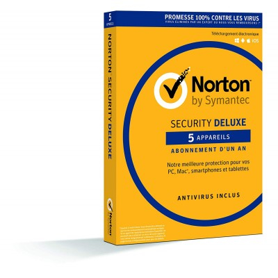 Norton Security Deluxe 2019 | 5 Appareils | 1 an | PC/Mac/iOS/Android